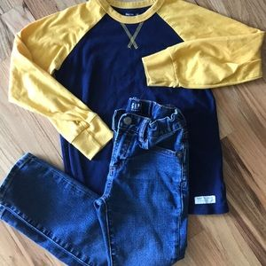 Boys Gap jeans and shirt